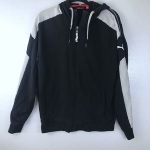 Puma Sz Large Logo Athletic Full Zip Hoodie Jacket